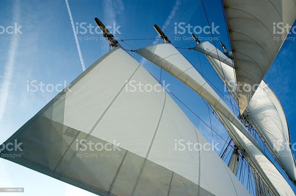 Sails away royalty-free stock photo