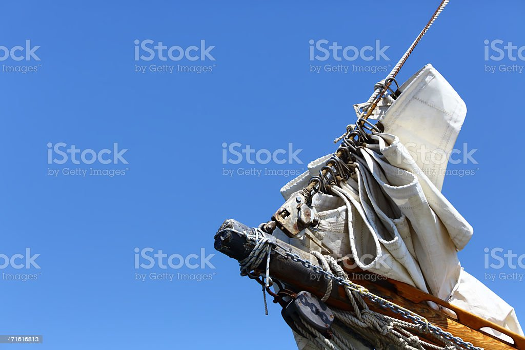 Sails down royalty-free stock photo