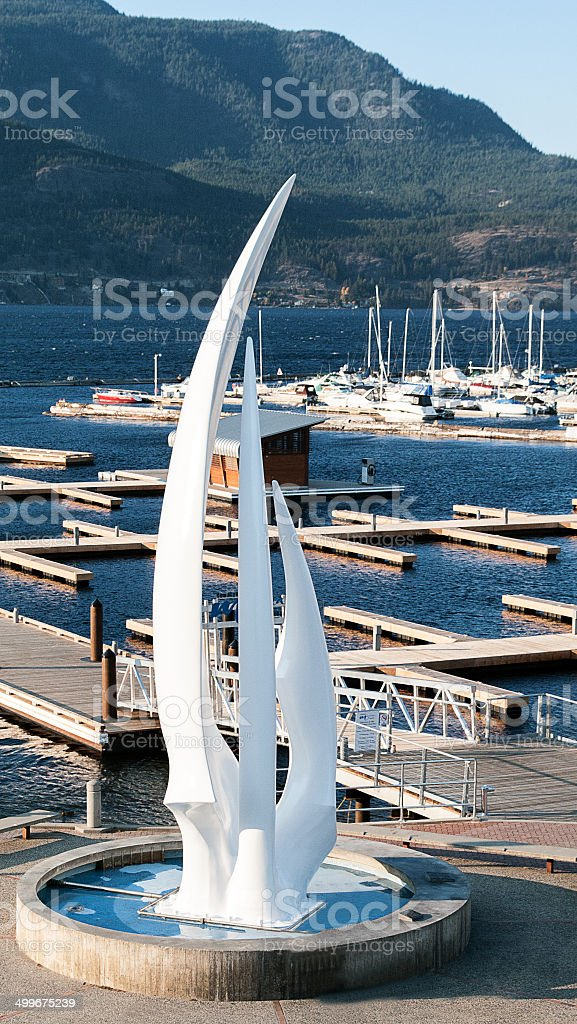 Sails Kelowna stock photo