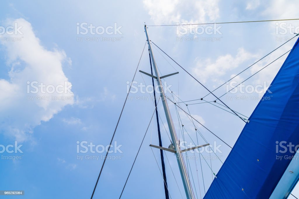 Sails of sailing yacht in the wind. royalty-free stock photo