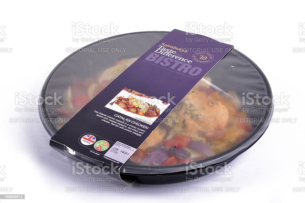 Sainsbury Taste The Difference Bistro Ready Meal stock photo