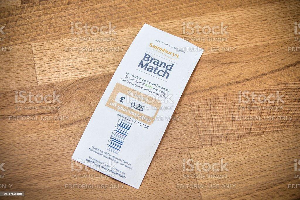 Sainsbury's Brand Match stock photo