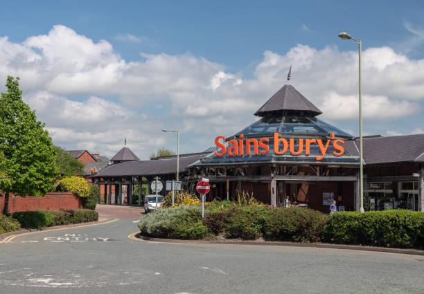 Sainsbury's supermarket in Oswestry Shropshire stock photo