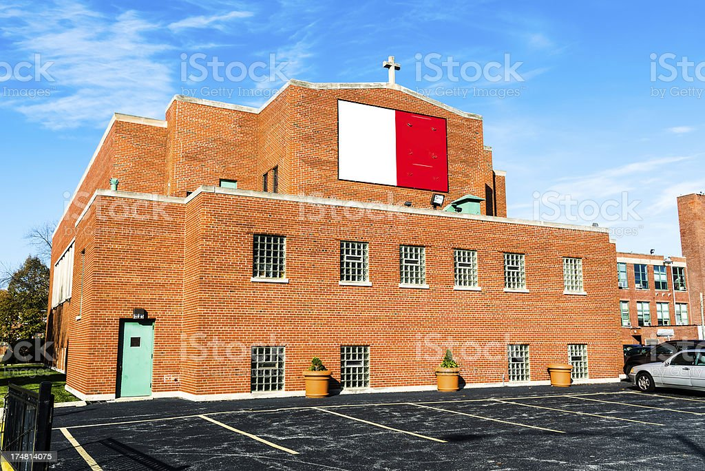 Saint Ailbe Church in Calumet Heights, Chicago royalty-free stock photo