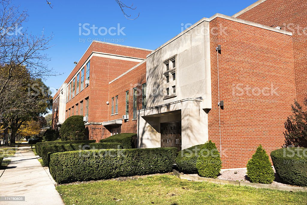 Saint Ailbe Parish Hall  in Calumet Heights, Chicago royalty-free stock photo