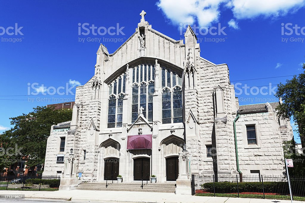 Saint Ambrose Catholic Church, Kenwood, Chicago royalty-free stock photo