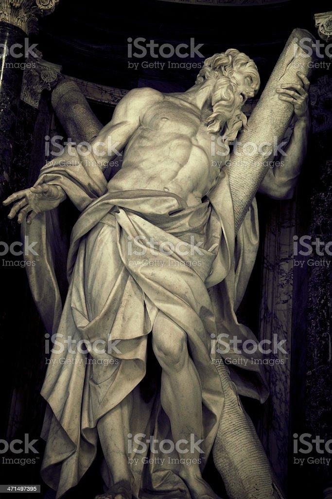 Saint Andrew Apostle royalty-free stock photo