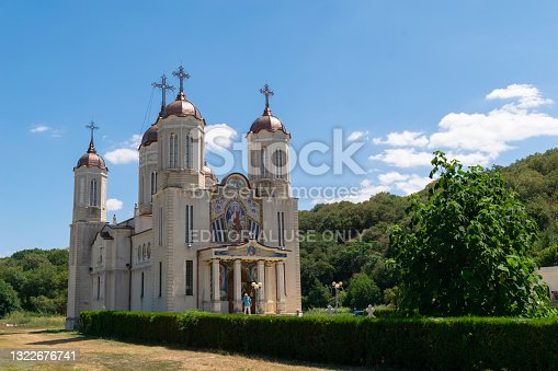 istock Saint Andrew Cave Monastery near Ion Corvin, Constanta, Romania. 1322676741