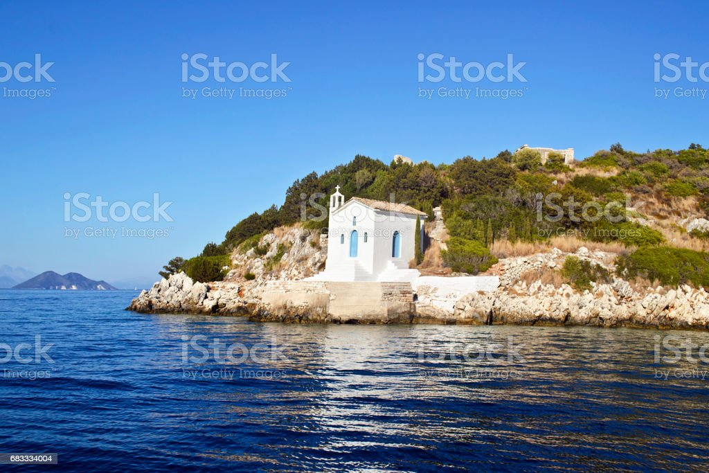 saint Andrew chapel in Ithaca Greece royalty-free stock photo