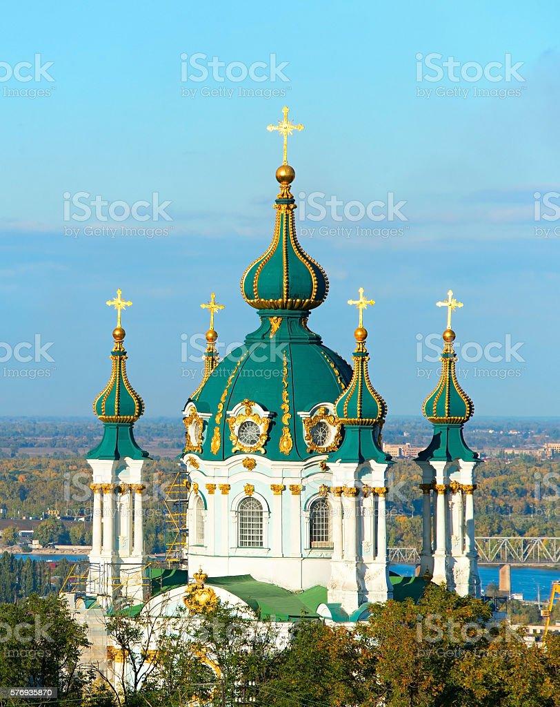 Saint Andrew church. Kiev, Ukraine stock photo