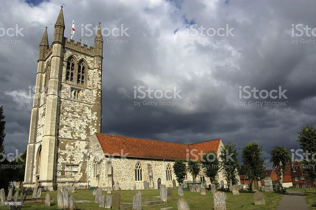 Saint Andrew's Church, Farnham royalty-free stock photo
