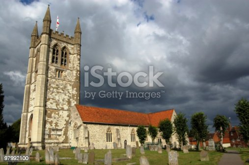 Saint Andrews Church Farnham Stock Photo & More Pictures of Cemetery