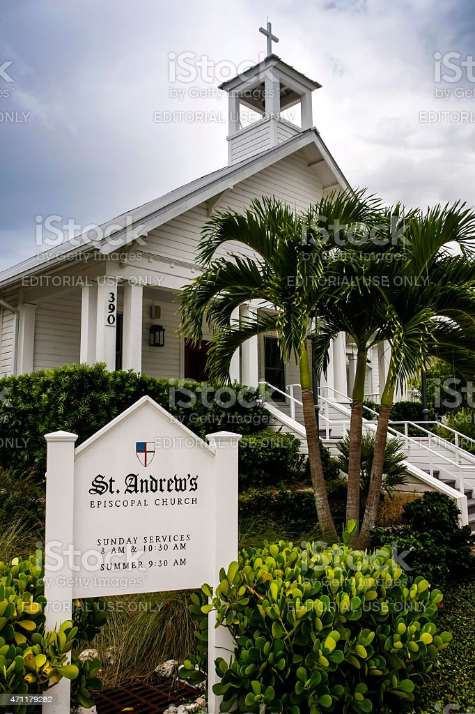 Saint Andrew's Episcopal Church on Gasparilla Island FL stock photo