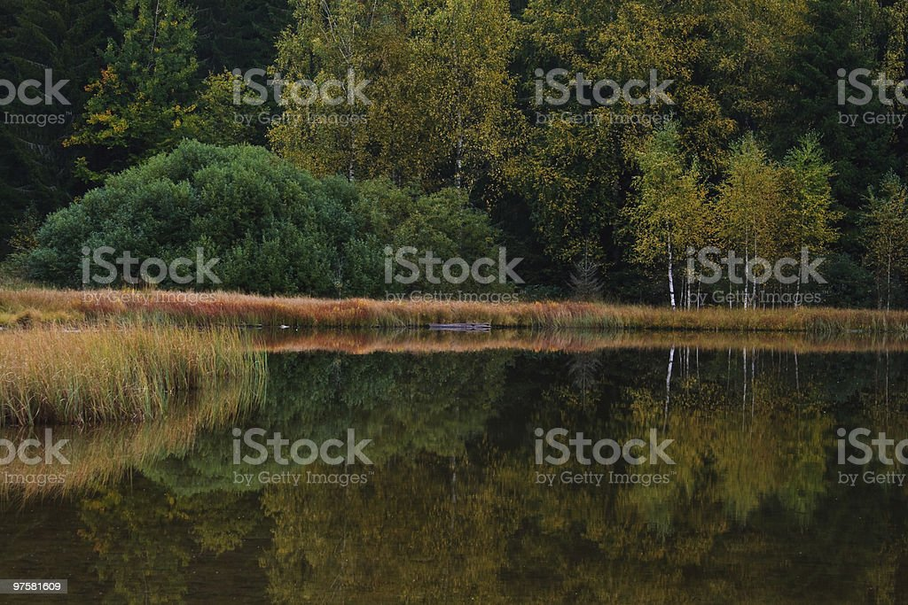 Saint Anna lake on a cloudy day royalty-free stock photo