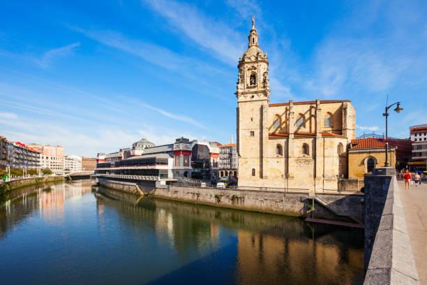 Saint Anthony Church Bilbao, Spain stock photo