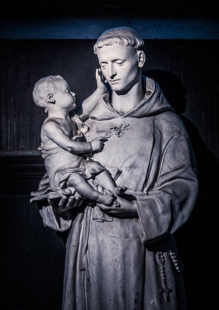 Saint Anthony of Padua Saint Anthony of Padua at Saint-Sulpice church in Paris st. anthony of padua stock pictures, royalty-free photos & images