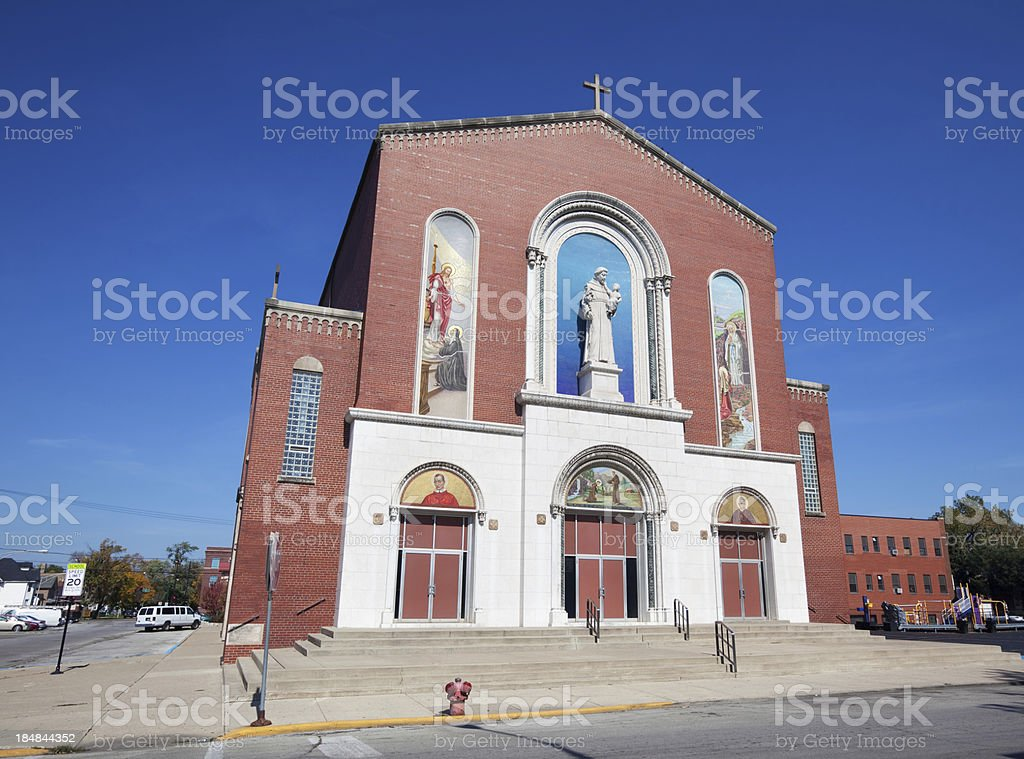 Saint Anthony's Church in West Pullman, Chicago royalty-free stock photo