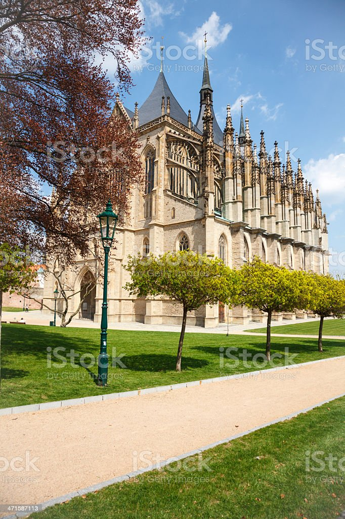Saint Barbara Church, Kutna Hora royalty-free stock photo