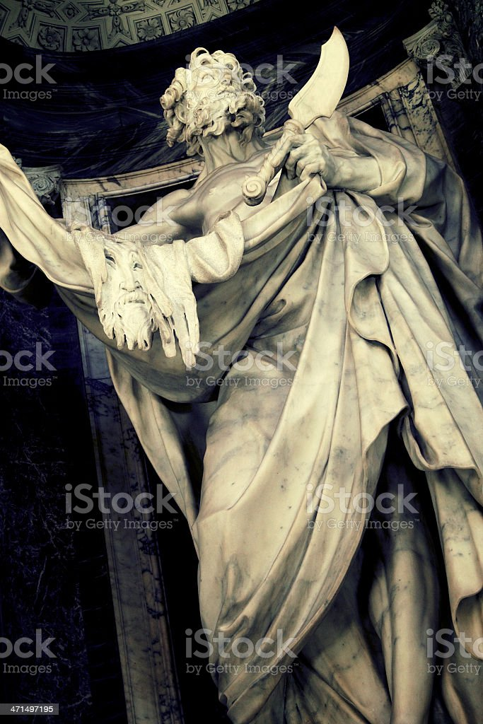 Saint Bartholomew Apostle royalty-free stock photo