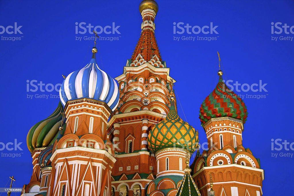 Saint Basil cathedral in Moscow royalty-free stock photo