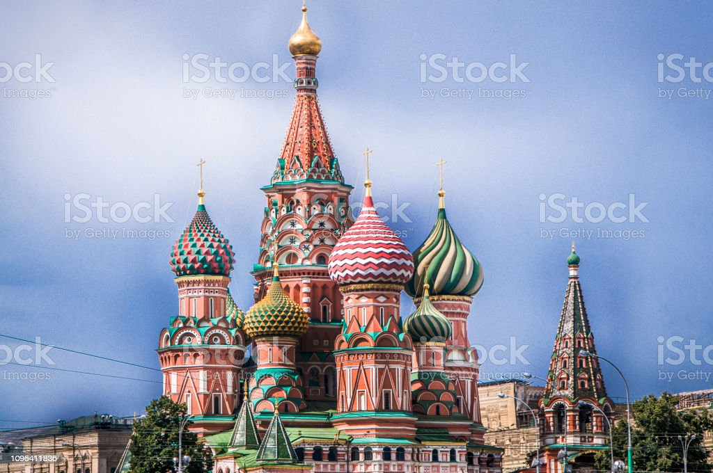 Saint Basil Cathedral In Moscow, Russia stock photo