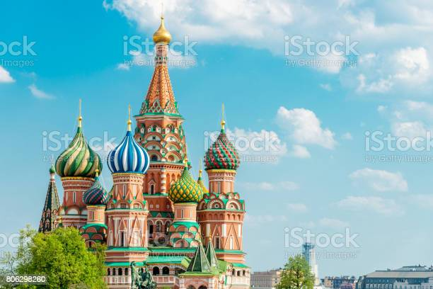 Saint basil cathedral moscow in summer copy space russia picture id806298260?b=1&k=6&m=806298260&s=612x612&h=im6awsaltxx48yx3v3fuqkhw du bjmwzj7xyqujuva=
