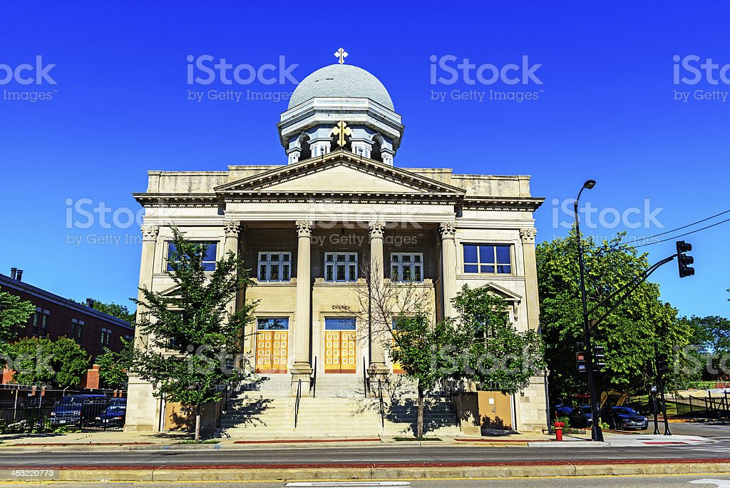 Saint Basil Greek Orthodox Church in Chicago royalty-free stock photo