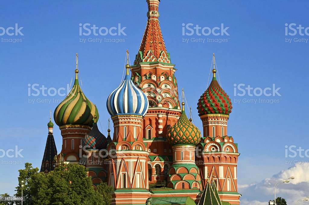 Saint Basil in Moscow royalty-free stock photo