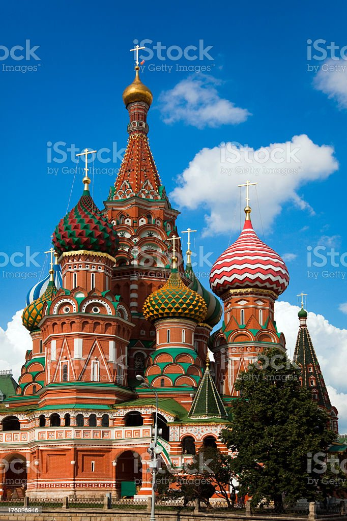 Saint Basil's Cathedral in Moscow, Russia (XXXL) royalty-free stock photo