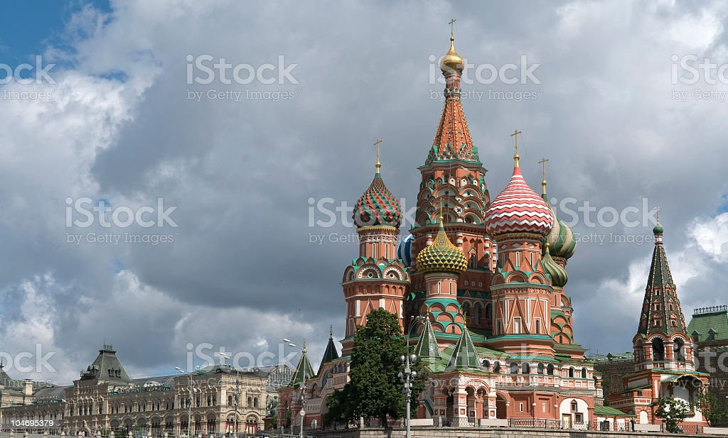 Saint Basil's Cathedral Moscow royalty-free stock photo
