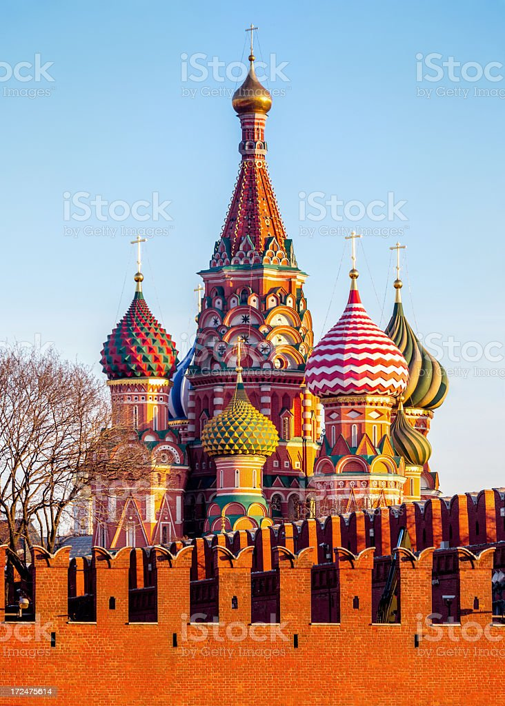 Saint Basil's Cathedral, Moscow royalty-free stock photo