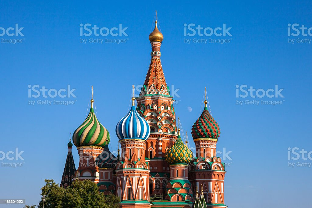 Saint Basil's Cathedral, Moscow stock photo