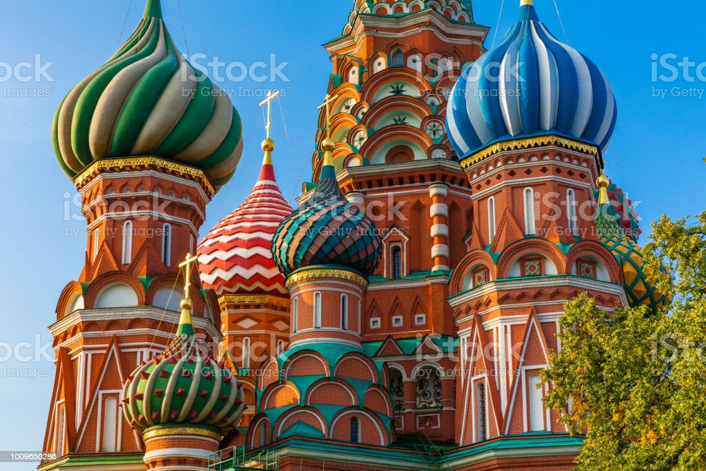 Saint Basil's Cathedral, Moscow, Russia stock photo