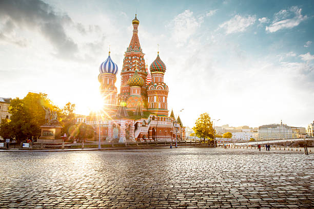 Saint Basil's Cathedral on Red Square in Moscow, Russia – Foto