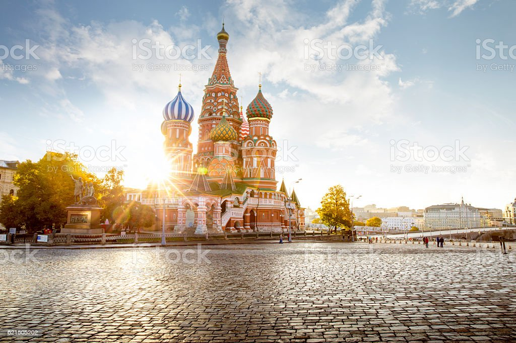 Saint Basil's Cathedral on Red Square in Moscow, Russia Lizenzfreies stock-foto