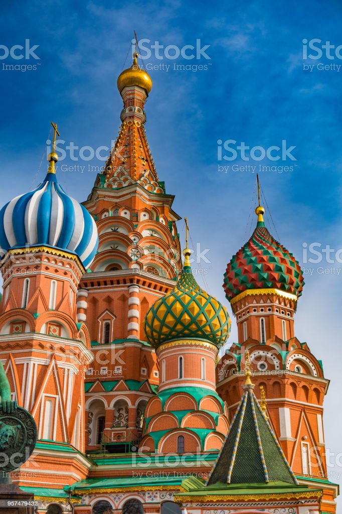 Saint Basil's Cathedral on Red Square stock photo