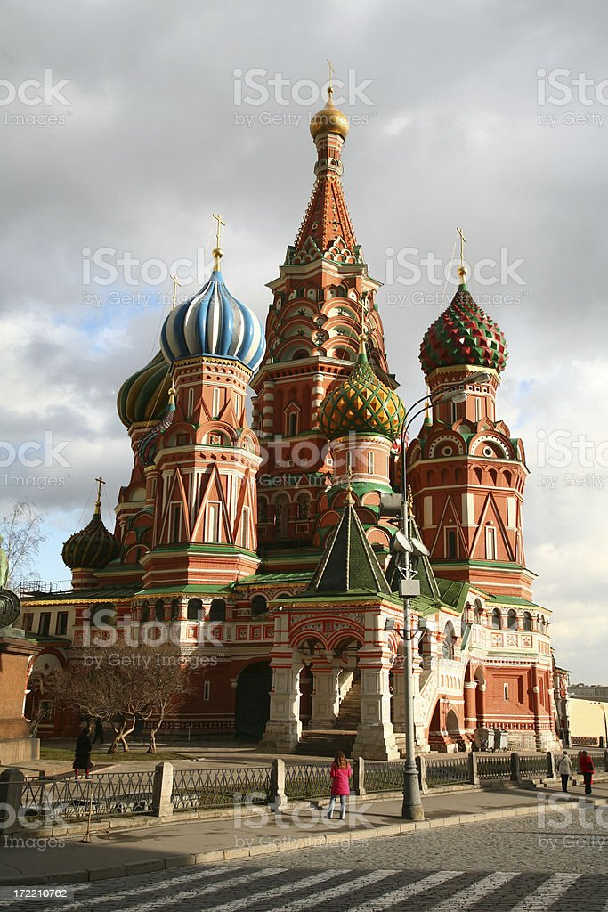 Saint Basil's cathedral royalty-free stock photo
