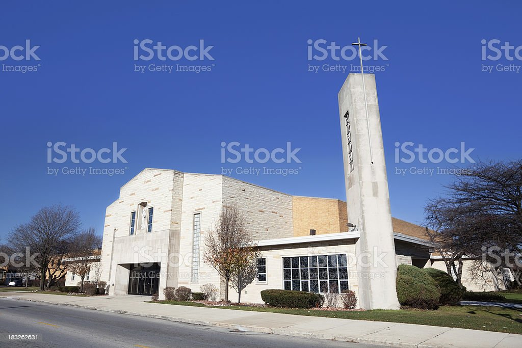 Saint Bede Church in Ashburn, Chicago royalty-free stock photo