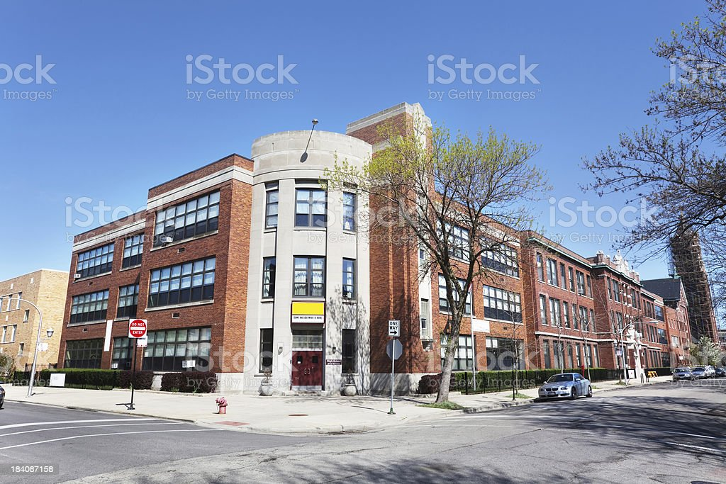 Saint Benedict High School in North Center,  Chicago royalty-free stock photo