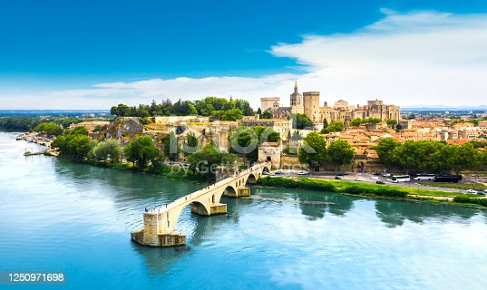 Saint Benezet bridge in Avignon in a beautiful summer day