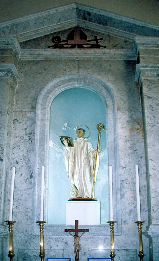 Saint Bernard of Clairvaux, co-patron of Gibraltar, at the Cathedral of Saint Mary the Crowned