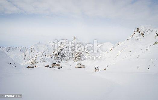 istock Saint Bernard Pass winter 1166004142