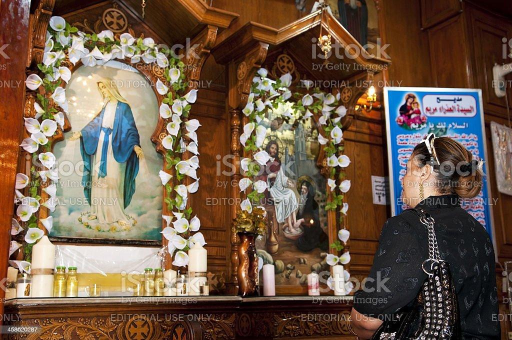 Saint Bishoy Coptic Orthodox Church in Port Said, Egypt stock photo