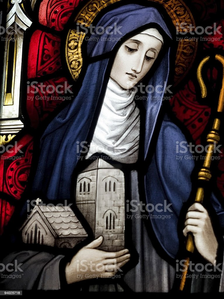 Saint Brigid of Kildare stock photo