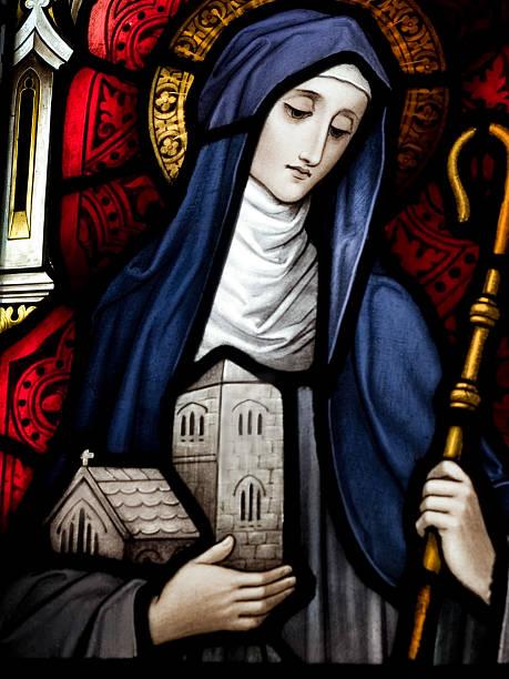 Saint Brigid of Kildare  religious saint stock pictures, royalty-free photos & images