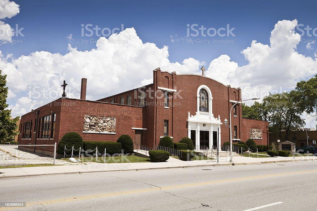 Saint Camillus Church in Garfield Ridge, Chicago royalty-free stock photo