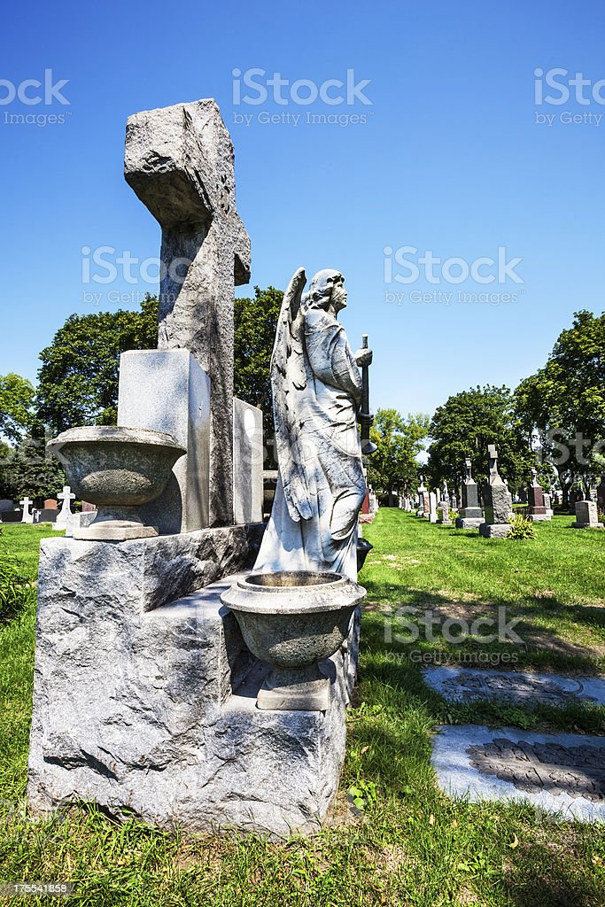 Saint Casimir Lithuanian Cemetery in Mount Greenwood, Chicago royalty-free stock photo
