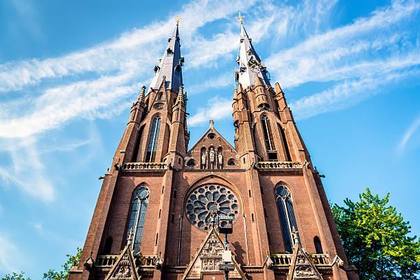 saint catharine church in eindhoven - eindhoven stockfoto's en -beelden
