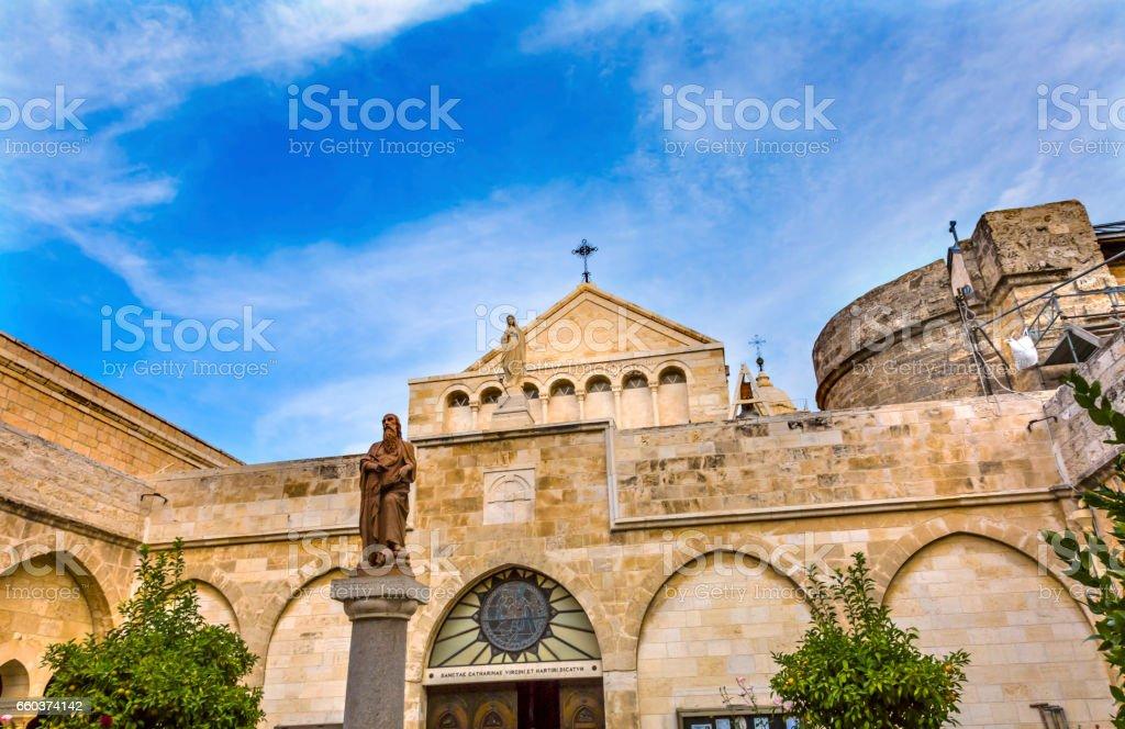 Saint Catherine Church Nativity Church Bethlehem West Bank Palestine stock photo
