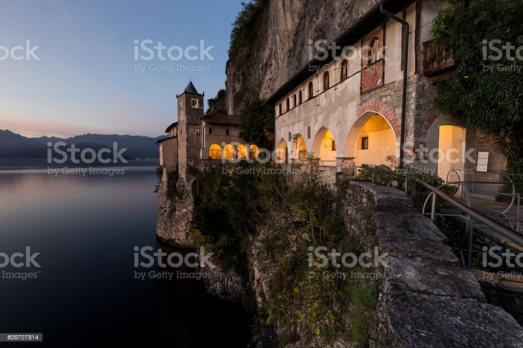 Santa caterina del sasso stock photo